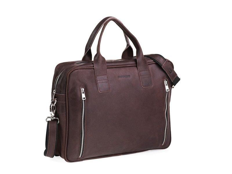 51679e033dfd9 Brødrene Skórzana szara torba męska na ramię. Miejsce na Laptop ...