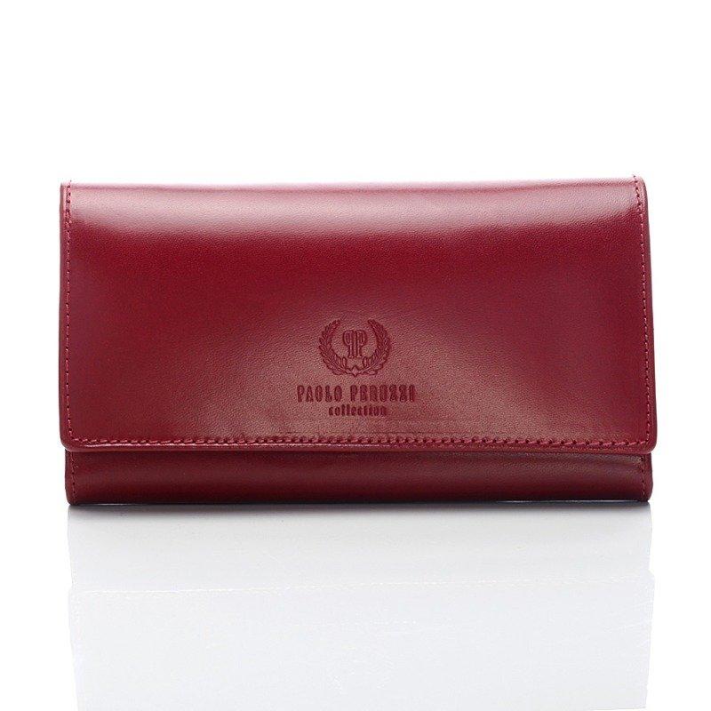 d26327337aedc Paolo Peruzzi Czerwony Ekskluzywny portfel damski Paolo Peruzzi ...
