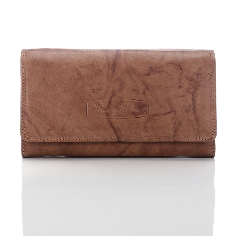 696774e6aa44c ... Brązowy Elegancki skórzany portfel damskie Idealny na prezent ...