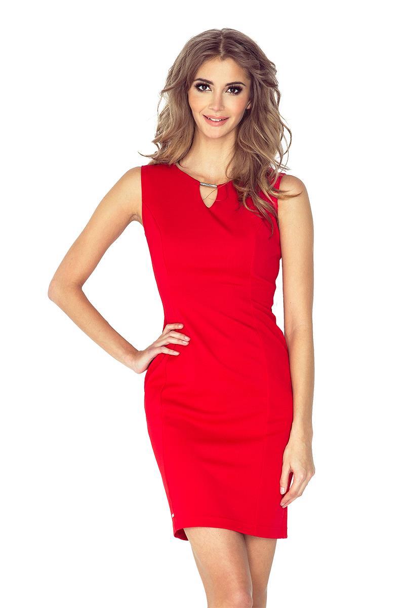 ec91d15df6 ... Patrizia Elegancka sukienka z klamerką - CZERWONA ...