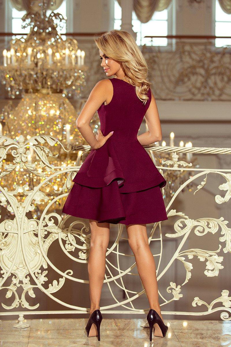 8f85466e14 numoco MAGDA Sukienka rozkloszowana - BORDOWA - Merg.pl