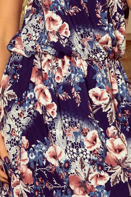 DIANA Sukienka MAXI wiązana na szyi z rozcięciem - MALWY
