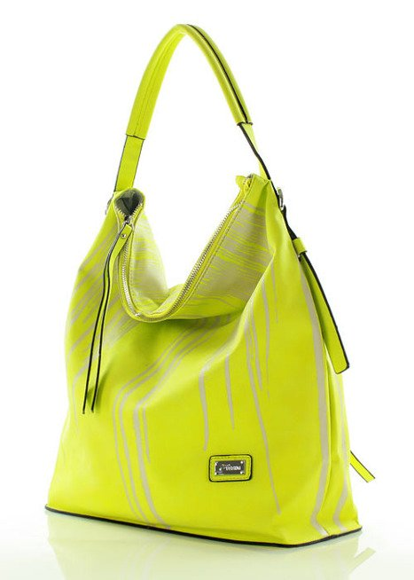 Wygodna torebka miejska limonka
