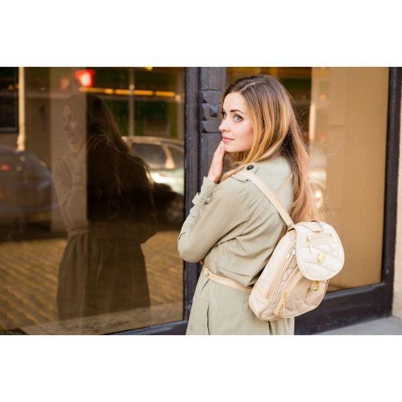 Elegancki skórzany plecak damski