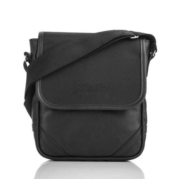 Czarna Męska torba na ramię / tablet