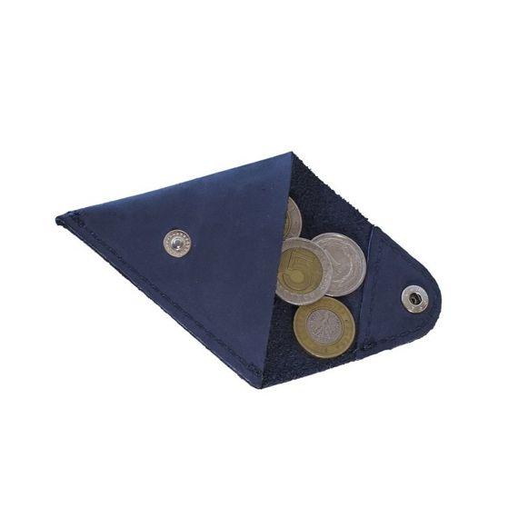 Granatowa bilonówka coin wallet BRODRENE Skóra naturalna