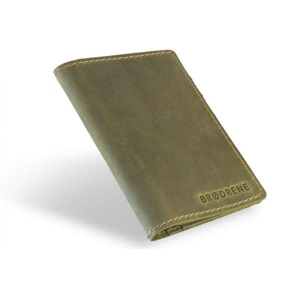 Komplet: portfel + bilonówka Brodrene oliwkowy