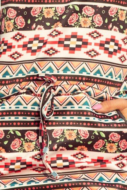 Chantal Sukienka sportowa - kolorowe paski FOLK