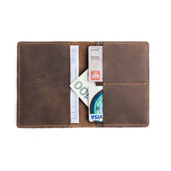 Komplet: portfel + bilonówka Brodrene czerwony
