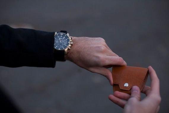 Skórzana bilonówka, portfel na monety SOLIER S BORDO ELISE