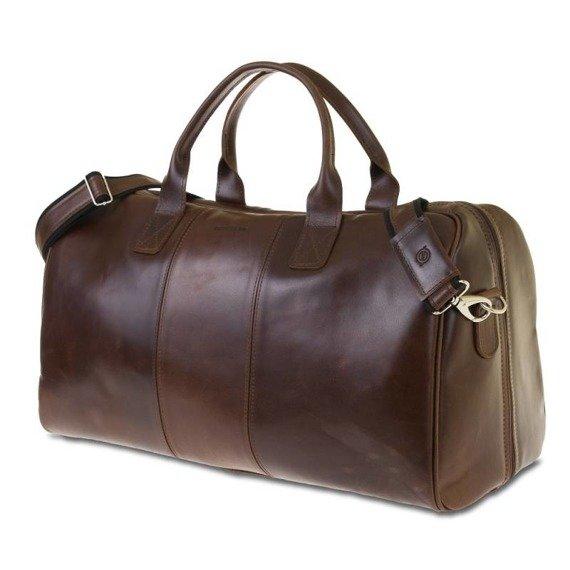 70e378d7ea1c3 ... GERONE Koniakowa męska torba ze skóry Podróżna smooth leather ...