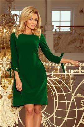 CARMEN Sukienka z kokardkami - JASNY ZIELONY