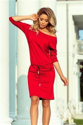 Chantal Sukienka sportowa z wiązaniem i kieszonkami - CZERWIEŃ