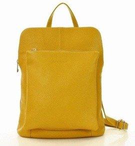 MARCO MAZZINI Plecak damski torebka crossbody A4 żółty