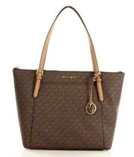 Markowa torebka shopper tote bag  MICHAEL KORS - CIARA - BROWN/ ACRN