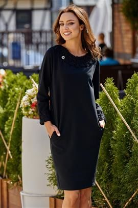 Sukienka z plecionką czarny