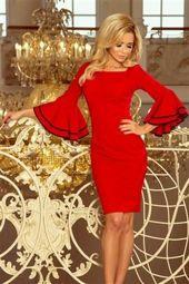 Kendra sukienka z hiszpańskimi rękawkami - CZERWONA
